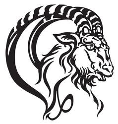 capricorn head tattoo vector image