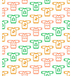 christmas seamless pattern - ugly sweaters vector image