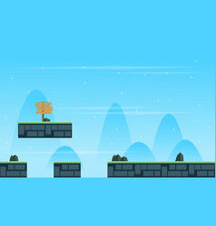 Collection stock scenery game background style vector