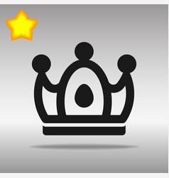 crown black icon button logo symbol concept vector image vector image
