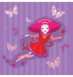 cute fairy cartoon vector vector image