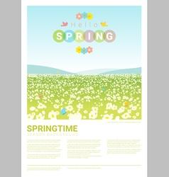 Hello spring landscape background 3 vector image
