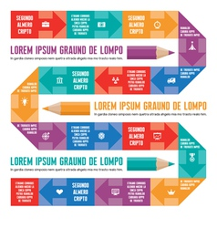 Infographic Concept - Line with Icons vector image vector image
