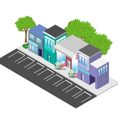 Isometric downtown shops vector image vector image