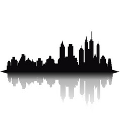 skyline city on white background vector image vector image