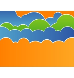 Stylized sky with clouds vector image