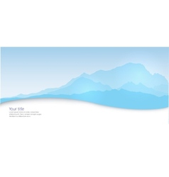 Winter banner with Mont Blanc silhouette vector image vector image