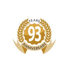 93 years ribbon anniversary vector