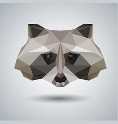 Abstract polygonal tirangle animal raccoon vector