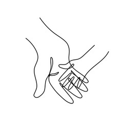 Adult parents hand holding child hand vector