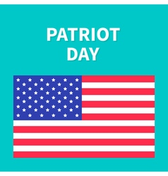 American flag Patriot Day background flat design vector image