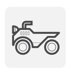 atv icon black vector image