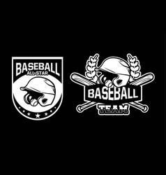Baseball all star team badge logo emblem template vector
