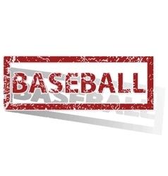 BASEBALL outlined stamp vector