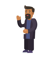 bearded man dressed casually vector image