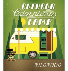 Camping trailer vector
