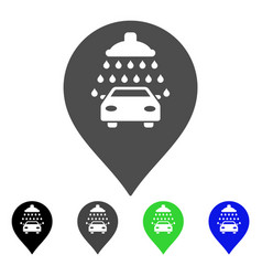 car shower marker flat icon vector image