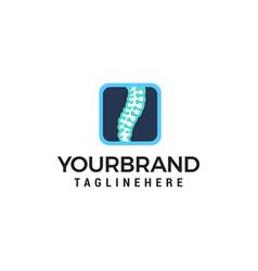 Chiropractic care logo design concept template vector
