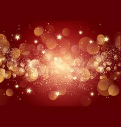Christmas stars and bokeh lights vector