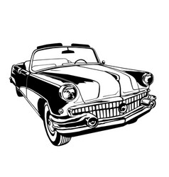 classic cabriolet vector image