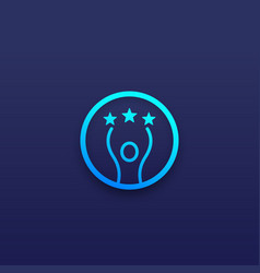 Competence and skills icon vector