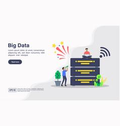 concept big data modern conceptual for banner vector image