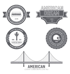Country USA Country England label template of vector