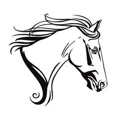 decorative horse 14 vector image