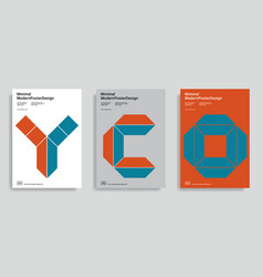 Design templates with simple geometric shapes vector