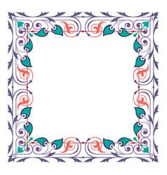 detailed garnished oriental frame vector image