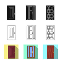 Door and front logo vector