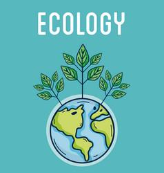 Ecology green world concept vector