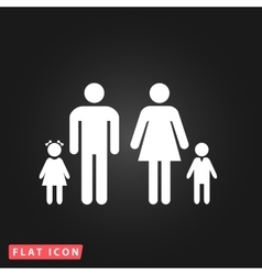 Family flat icon vector