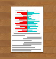 File with chart on table vector