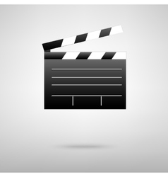 Film clap black icon vector