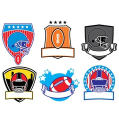 football patch vector image vector image