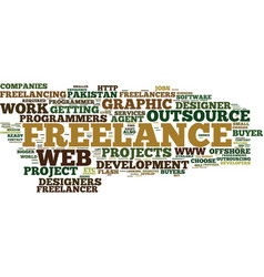 Freelance services and outsource text background vector
