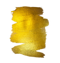 Gold watercolor texture paint stain abstract vector