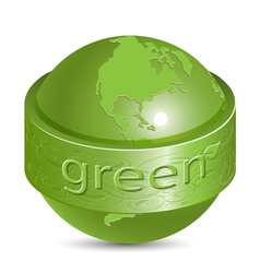 green globe vector image