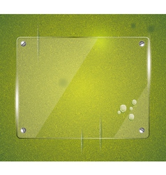 Green grass natural background with glass vector