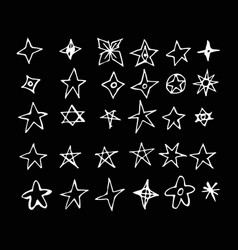 Hand drawn star doodle design vector