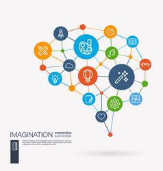 Imagination and dream brainstorm art vector