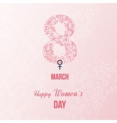 International Happy Women s Day concept vector