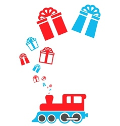 isolated holiday train vector image