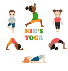 Kids doing yoga kids doing yoga vector