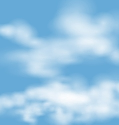 landscape atmosphere fluffy white clouds blue sky vector image