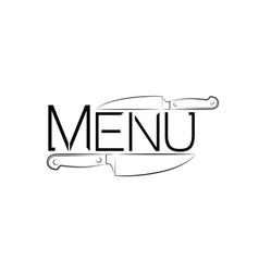 logo a cafe or restaurant logo for menus vector image