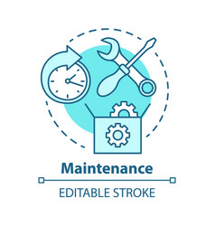 Maintenance concept icon round-the-clock workshop vector