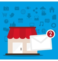 marketing online shop message receiving vector image