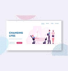 medicine health care website landing page doctor vector image